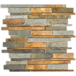 Urban-Mix Mosaik mix grau rost kupfer h10389