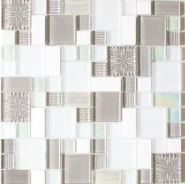 Avantgarde Mosaik mix weiß mit grau h11018 (und oder) mix grau h11019