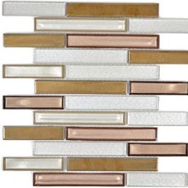 Chill Mosaik mix weiß mit Kupfer h11110