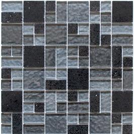 Artificial Mosaik mix schwarz h10888