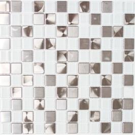 Modern-Mix Mosaik mix weiß klar 4mm h10363 und 8mm h10365