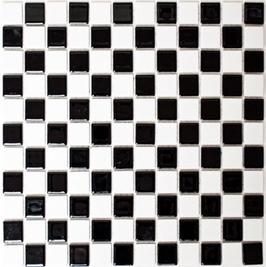 Classic Mosaik glänzend mix schwarz mit weiß h10157