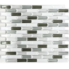 Improve Mosaik 4er Pack selbstklebendes Vinyl mix silber weiß h11157