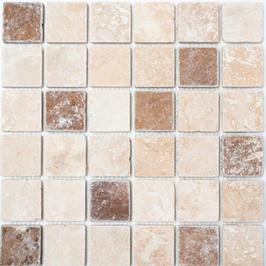Face Mosaik mix beige mit braun hell h10613