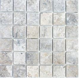 Silver Mosaik weiß grau h10568