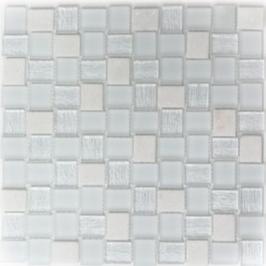 Beach Mosaik mix weiß h11047
