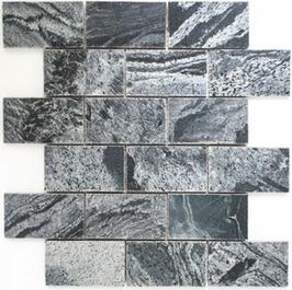 Quarz Mosaik silber grau h10412