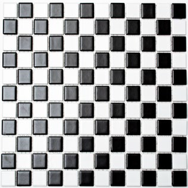 Classic Mosaik mix schwarz mit weiß h10158