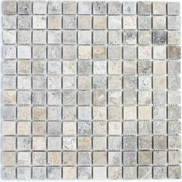 Silver Mosaik weiß grau h10567