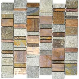 Urban-Mix Mosaik mix grau rost kupfer h10394