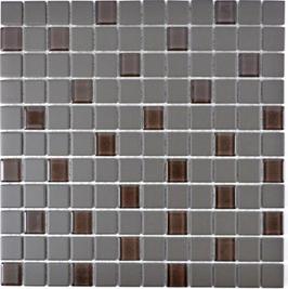Architecture Mosaik braun h10296 mit Keramik Glas