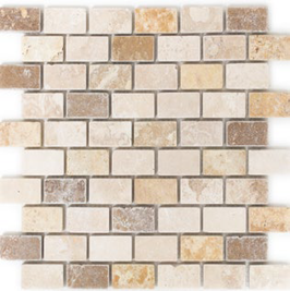 Face Mosaik mix beige mit braun h10605