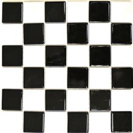 Architecture Mosaik mix schwarz mit weiß h10205 Schachbrett