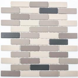 Architecture Mosaik mix hellbeige mit grau h10280
