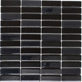 Architecture Mosaik schwarz mit Keramik Glas h10226
