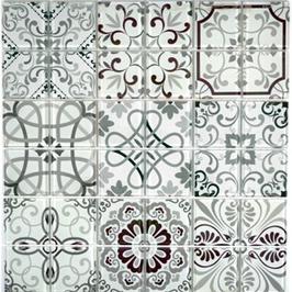 Qin Shi Mosaik Retro grau h10788