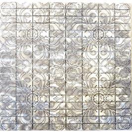 Modern Mosaik silber mit Muster h10345