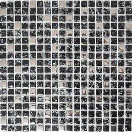 Qin Shi Mosaik mix schwarz mit silber h10773