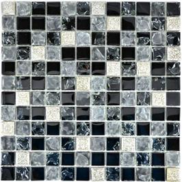 Qin Shi Mosaik mix grau mit schwarz  h10775