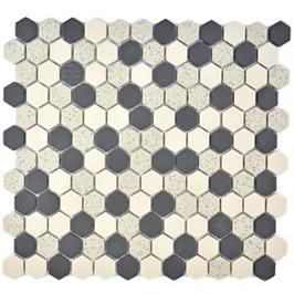 Salt Mosaik mix beige mit schwarz h10323