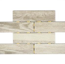 10 Stück Holzoptik Dot Mosaik hellbeige h10144