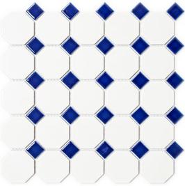 Octa Mosaik weiß mit blau Octa G464