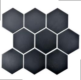 Hexa Mosaik matt schwarz HX 115