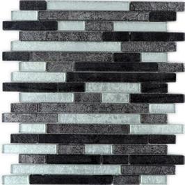 Foil Mosaik mix silber schwarz h10739