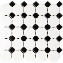 Octa Mosaik weiß mit schwarz Octa G468