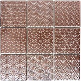 Retro Mosaik kupfer h10017