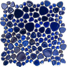 Pebble Mosaik kobaltblau h10099