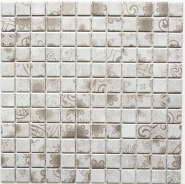 Retro Mosaik grau mit Muster h10022 LB 106