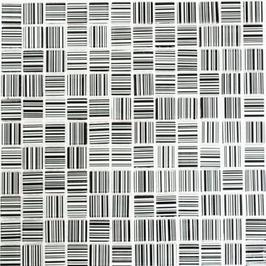 Code Mosaik mix strichweiß mit schwarz h10810