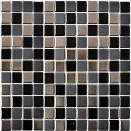 Style Mosaik mix schwarz mit silber h10034