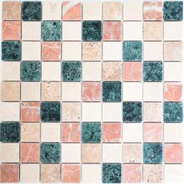 Hainan Mosaik mix creme beige rot grün h10453