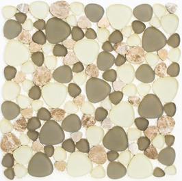 Beach Mosaik mix weiß grau rost h11050