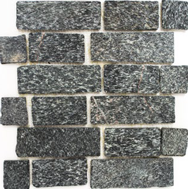 Quarz Mosaik mix schwarz mit anthrazit h10410