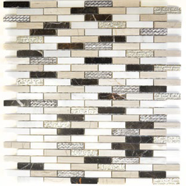 Design Mosaik mix silber braun weiß h10430