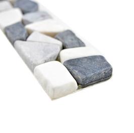 Asia Borde mix grau weiß schwarz h11160