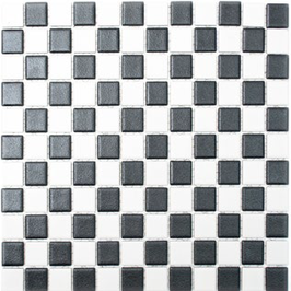 Antislip Mosaik mix schwarz mit weiß h10181 Duschboden geeignet