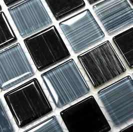 4 oder 8mm Stärke Code Mosaik mix strichschwarz mit weiß 4mm h10811 oder 8mm h10814