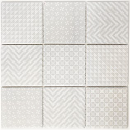 Retro Mosaik grau h10014 GEOG