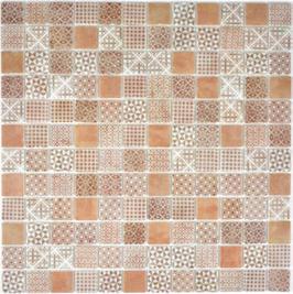 Patch Mosaik braun h10648