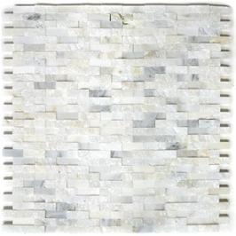 Splitface Mosaik weiß h10498