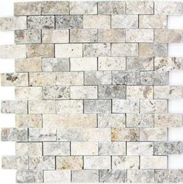 Face Mosaik weiß grau h10598