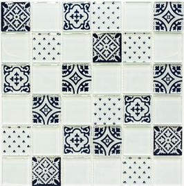 Retro Mosaik weiß 8mm h10793 XCM 8OP1 oder 4mm h10797 CM 4OP11
