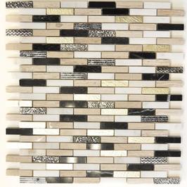 Design Mosaik mix gold schwarz weiß h10429 (und oder) mix silber braun weiß h10430