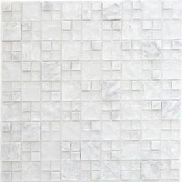 Ice Cube Mosaik mix weiß h10967