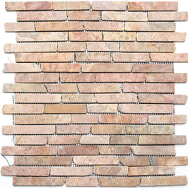Bali Mosaik rot h10487 Riemchenmosaik / Stabmosaik