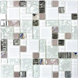 Diamond Mosaik mix weiß h10928